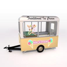 Ice Cream Trailer 3D Model