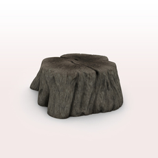 Old Tree Stump 3D Model