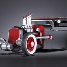 HotRod 1929 RatRod 3D Model