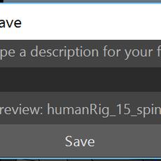One Click Save for Maya 2.2.0 (maya script)