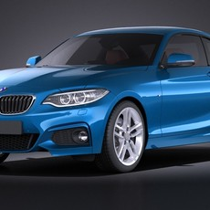 BMW 2-series Coupe M 2015 VRAY 3D Model