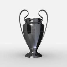 UEFA Champions League Cup Trophy 3D Model