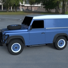 Land Rover Defender 90 Hard Top HDRI 3D Model