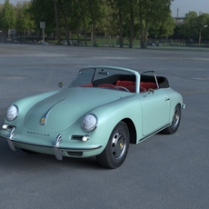 Porsche 356 Convertible HDRI 3D Model