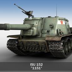 ISU-152 - Soviet heavy self-propelled gun 3D Model