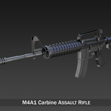 Colt M4A1 Carbine - Assault rifle 3D Model
