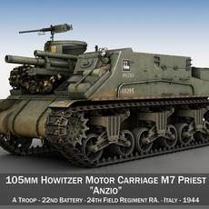 M7 Priest - Anzio 3D Model