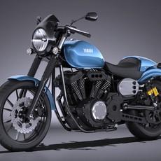 Yamaha XV950 Racer 2016 3D Model