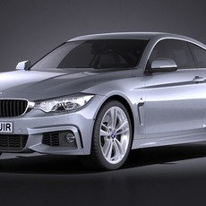 BMW 4-Series Coupe F32 M sport package 2015 VRAY 3D Model