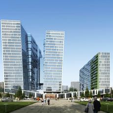 Architecture 014  -Mall Skyscraper building 3D Model