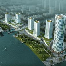 Cityscape Skyscraper 075 3D Model