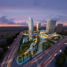 Skyscraper business center 028 3D Model