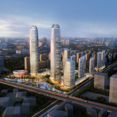 Skyscraper Office Building 003 3D Model