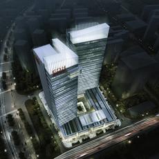 Skyscraper Office Building 021 3D Model