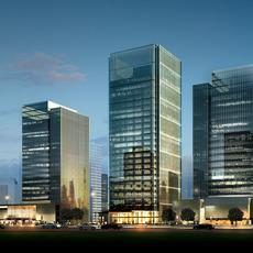 Office buildings 004 3D Model