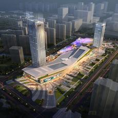 City shopping mall 025 3D Model