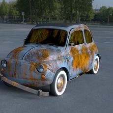 Fiat 500 Nuova 1957 rusty HDRI 3D Model
