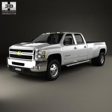 Chevrolet Silverado Crew Cab Dually 2010 3D Model
