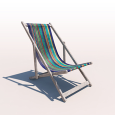 Deck Chair - Contemporary - Weathered 3D Model