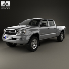 Toyota Tacoma Double Cab Long Bed 2011 3D Model