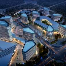 City shopping mall 097 3D Model