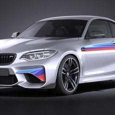 BMW M2 M-Perfomance Coupe 2016 VRAY 3D Model