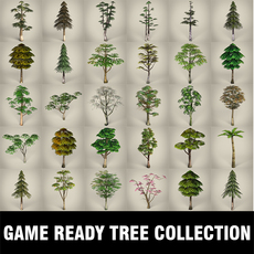 Game Ready Tree Collection 3D Model