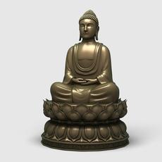 Buddha Statue 1 3D Model