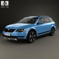 Skoda Octavia Scout 2014 3D Model