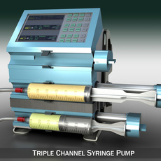 Triple Channel Syringe Pump 3D Model