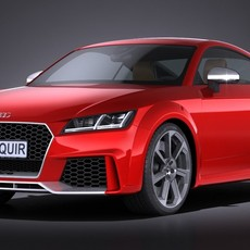 Audi TT RS 2017 3D Model