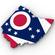 Ohio Political Map 3D Model
