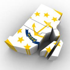 Rhode Island Political Map 3D Model