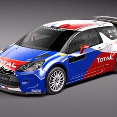 Citroen DS3 Rally Car 2011-2015 3D Model