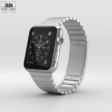 Apple Watch 42mm Stainless Steel Case Link Bracelet 3D Model