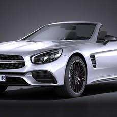 Mercedes-Benz SL 63 AMG 2017 3D Model