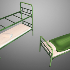 Military Beds 3D Model
