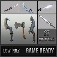 Fantasy Melee Weapons Pack 3D Model