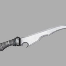 Fantasy Sharp Knife 01 3D Model