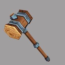 Wooden Warhammer 3D Model