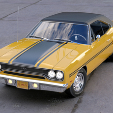 Plymouth GTX 1970 3D Model