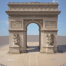 Paris Triumphal Arch 3D Model
