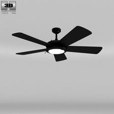 Ceiling Fan Black 3D Model
