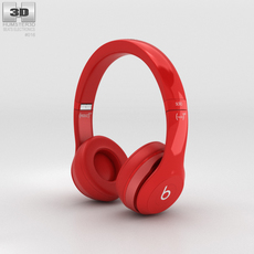 Beats by Dr. Dre Solo2 On-Ear Headphones Red 3D Model