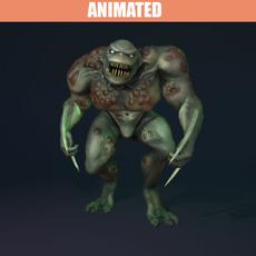 Animated Swamp Reptilian 3D Model