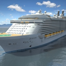 Allure of the Seas Cruise Ship 3D Model