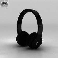 Beats by Dr. Dre Solo HD Matte Black 3D Model