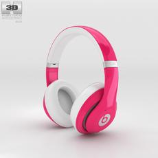 Beats by Dr. Dre Studio Over-Ear Headphones Pink 3D Model