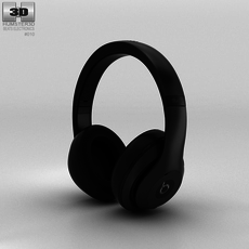 Beats by Dr. Dre Studio Over-Ear Headphones Matte Black 3D Model