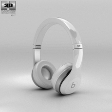 Beats by Dr. Dre Solo2 On-Ear Headphones White 3D Model